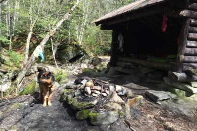 Coppermine Shelter just below Bridal Veil Falls