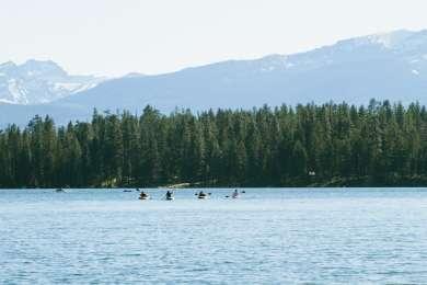 Kayakers on Holland Lake