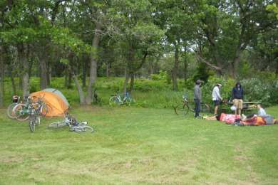 Bike camping.