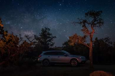 At Mid Hills we were able to see the Milky Way!