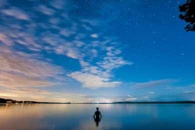 a beautiful spot for a nighttime swim