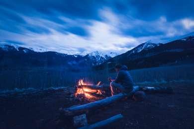 people fire camper