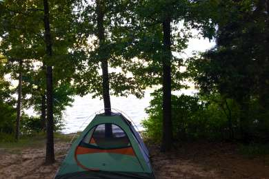 Waterfront camping at site #93.