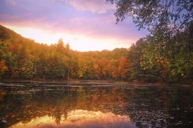 Sunset over Crocker Pond