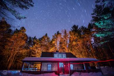 Radeke Cabin under the stars, January 21st, 2017.
