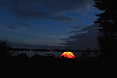 Camping at Tioga Point