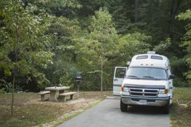 Super cool campground near the Ouachita National Forest.