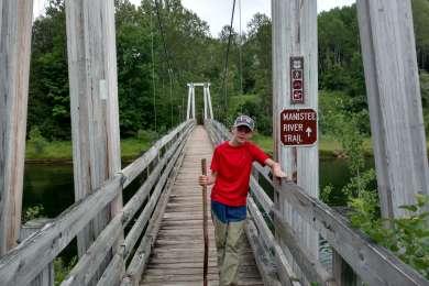 Sweet Mackinac bridge replica over Manistee River