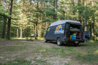 One of several campsites at McKinley Horse Trail Campground.