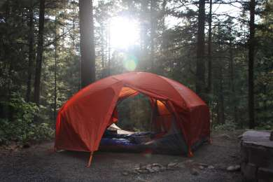 Lots of space for yourself at the big camp sites.
