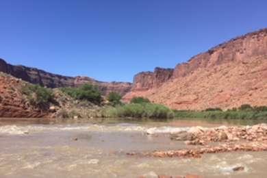 campsites back up to the colorado river
