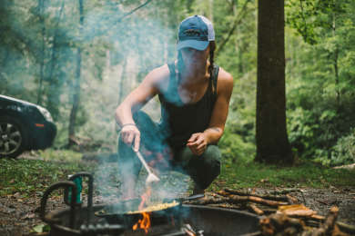 Cooking while at Abrams Creek Campground