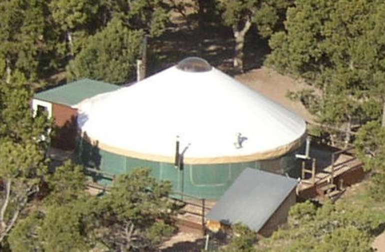 That's it - The YURT at Screwball Ranch with corrals, fire pit, plenty of parking and great privacy (on 80 private acres).
