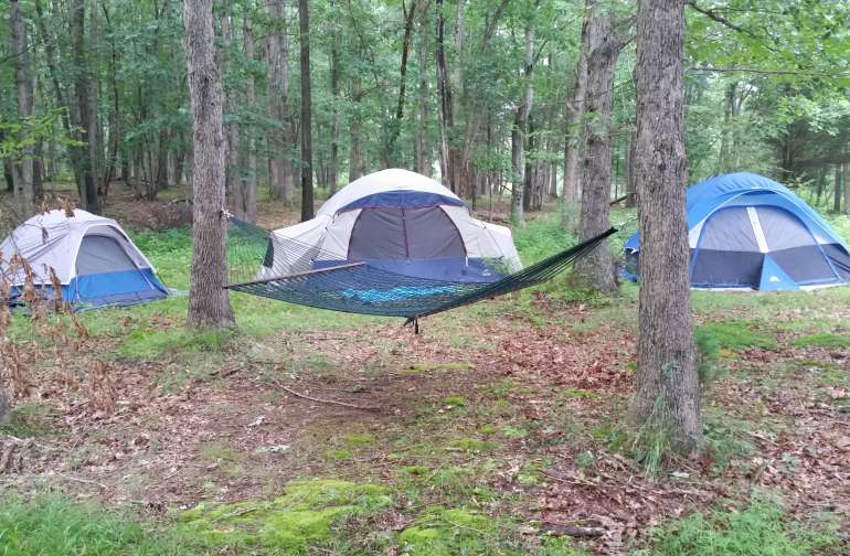 Nothing like a tent and a hammock!
