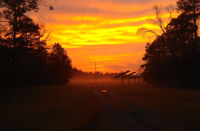 Enjoy a beautiful sunset and watch for deer and fox