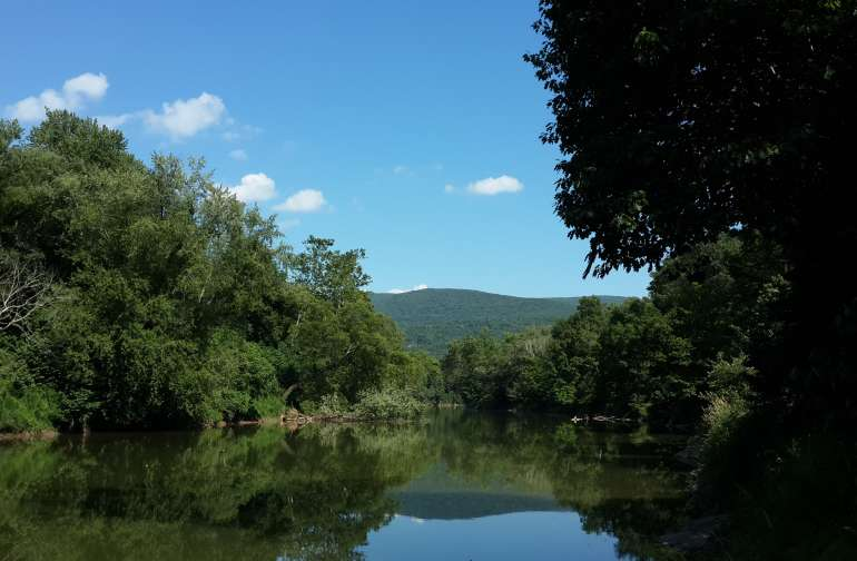 Cacapon River in the summer.