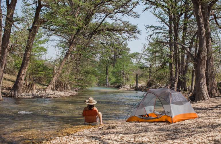 The cool, clear water of the Medina River are a lovely respite from the warm Texas weather! I could have enjoyed this little spot all afternoon.