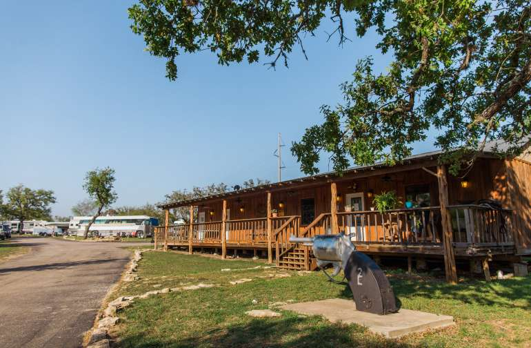 "The RV Park ""lodge"" area - great for posting up for game night, wi-fi access to get work done, or laundry/bathrooms."