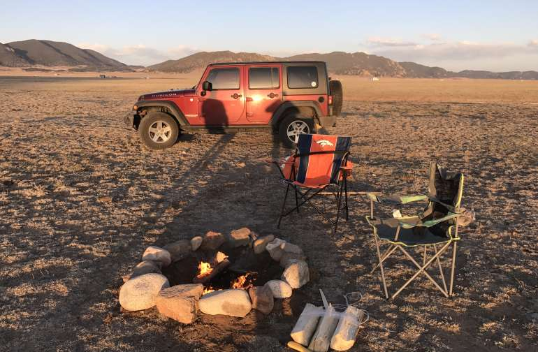 Camp out with rustic campfire and enjoy the 360 degree views of the mountains