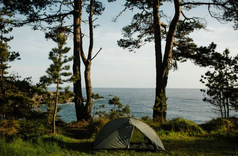 There are several places to set up camp on the property, with the opportunity for multiple tents to be set up.