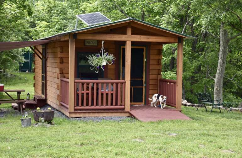 The cabin of Loafer's Glory. Up on a hill with a good view of a lot of the acres.