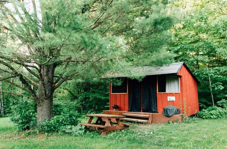 our cute little rustic cabin