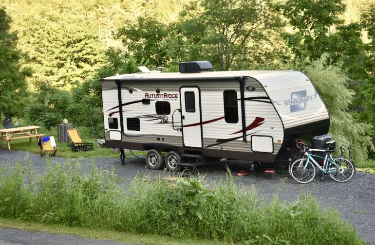 There are 4 RV sites at Woodbury Meadows, each with their own hookup.
