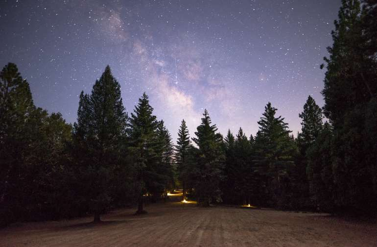 A wide open field next to the campsites provides the perfect viewing opportunity of the night sky