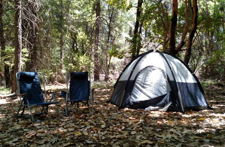 One tent in group site #2