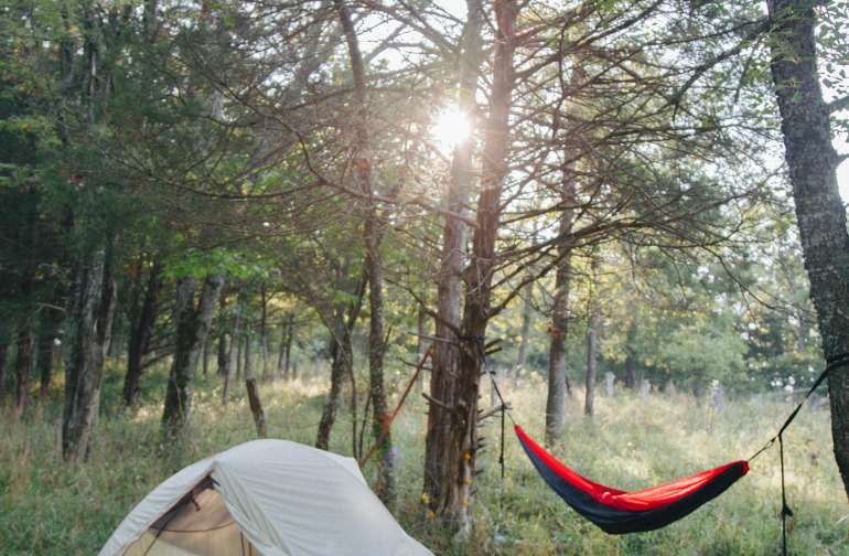 a beautiful place to camp and hammock