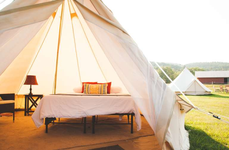 The inside of your fancy tent!