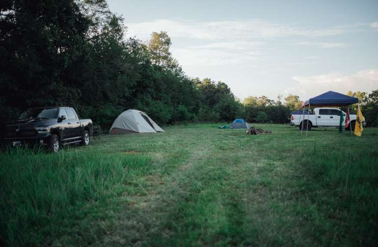 Our camping neighbors at the Grassy Knoll