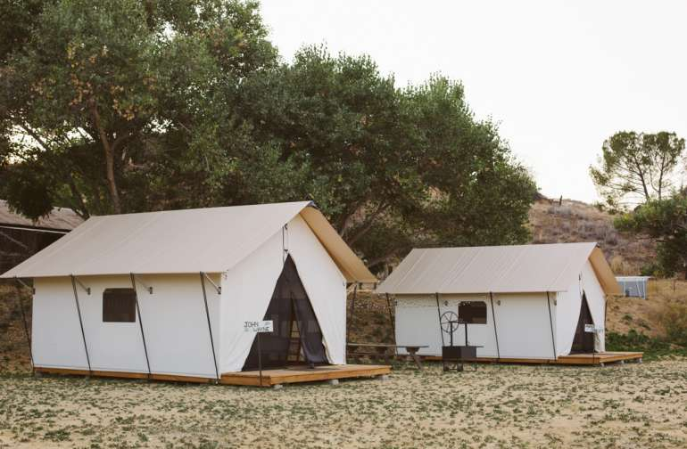 lodging canvas tent
