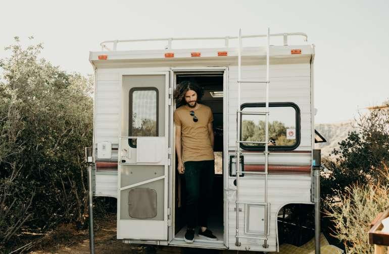 the camper.