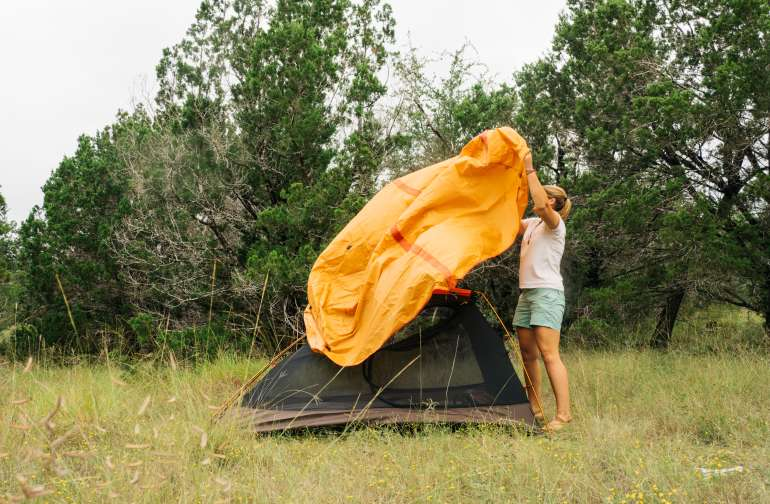 40 acres of land to chose whichever nook you want for your tent