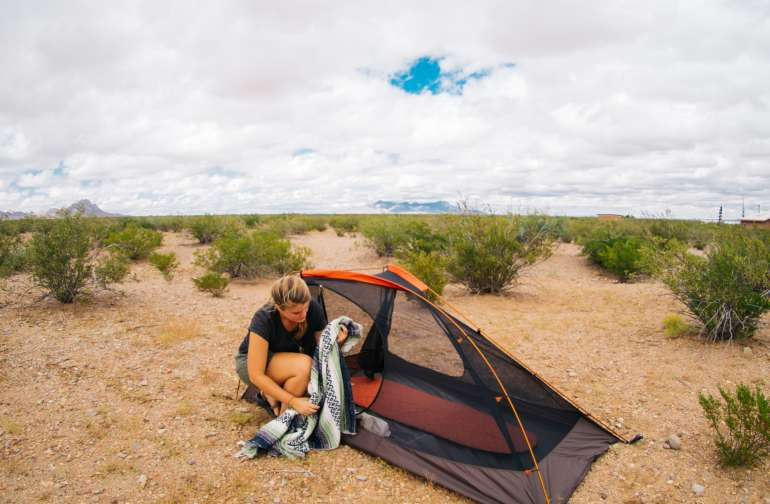 There is vast desert in the middle of a great experimental building community to find a spot for your tent