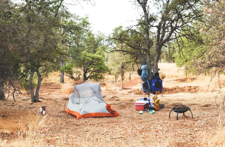 This Gear Tree came in super handy for getting our packs off of the ground. We slept without the rain fly and the stars were AMAZING at night. We even saw some shooting stars!
