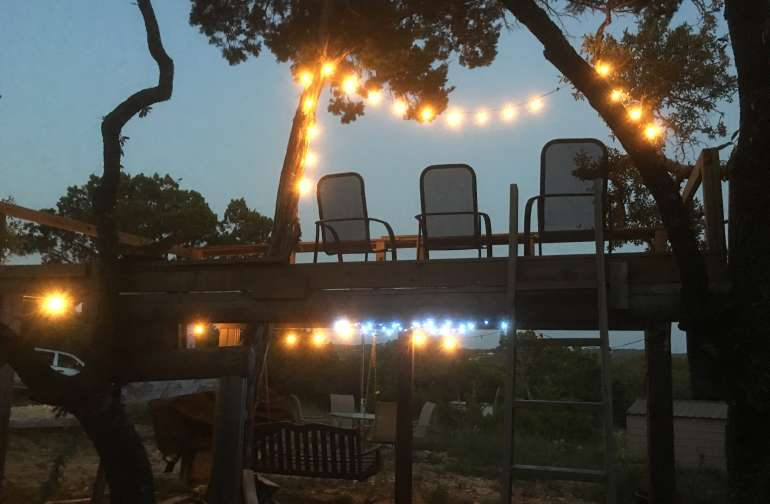 Relax and Unwind on our deck overlooking the hill country and watch the sunrise or moonrise