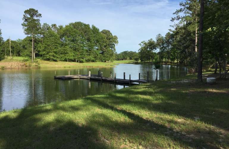 This lake is fully stocked with Bass and Brem...Great private fishing....