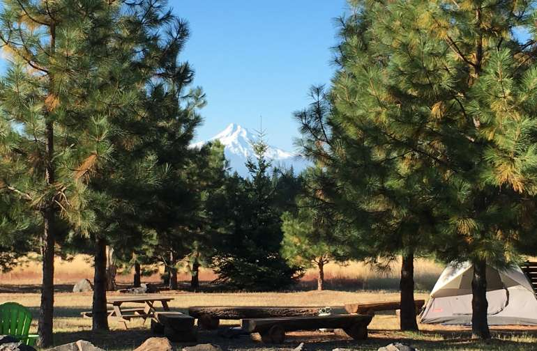 Pretty Mt. Hood views from the communal gathering area!