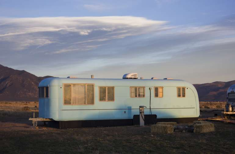 1953 Camper with Outside Deck