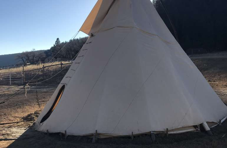One of the tipis