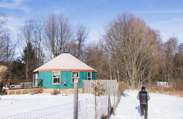 people winter yurt