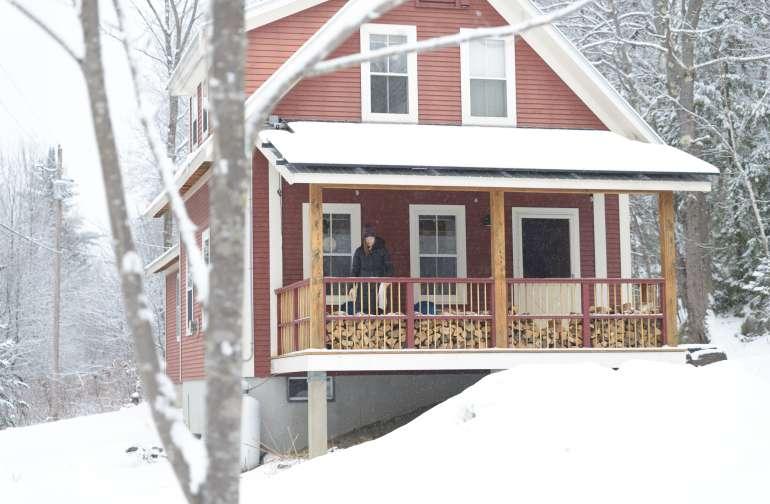 cabin people winter