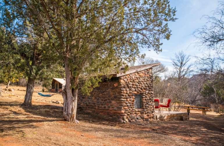Camp Avalon's River Stone Cabin