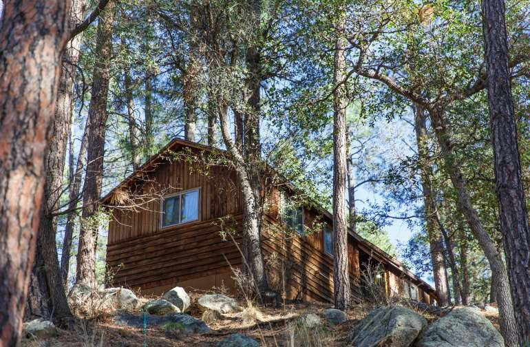Another view of one of the cabins