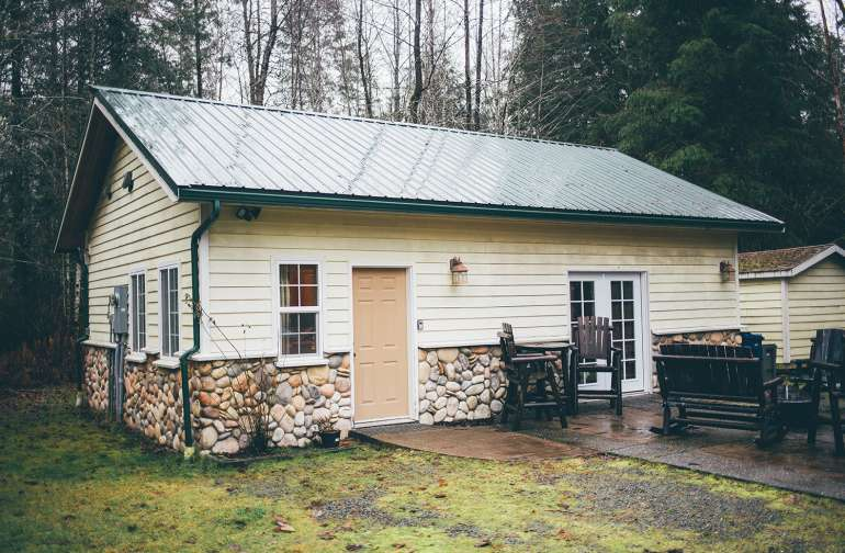 The outside of the cabin
