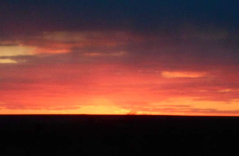 One of our fantastic sunsets.