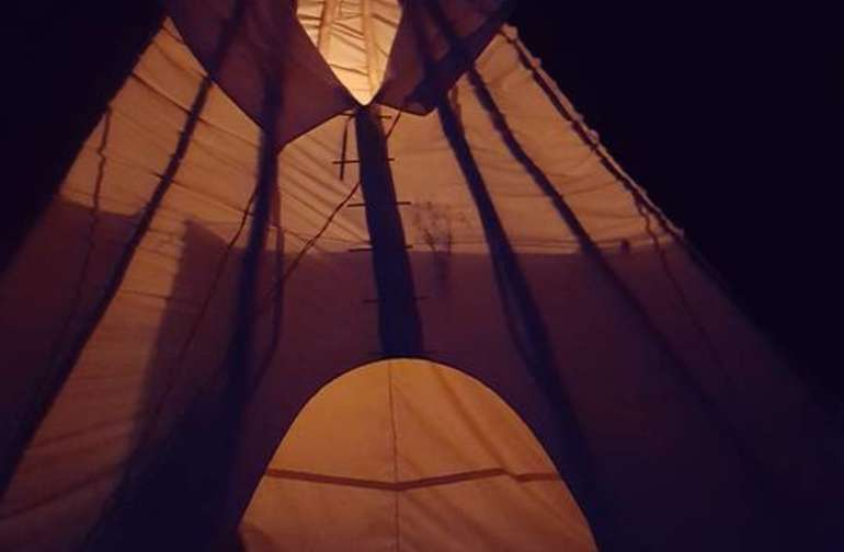 The tipi! An experience you must have for yourself;).