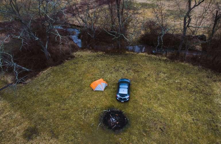 Aerial views at camp